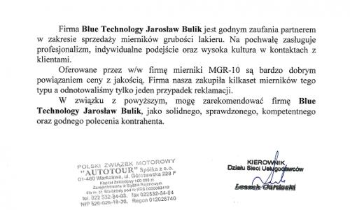 Referencje PZMOT AUTOTOUR - Polski Związek Motorowy