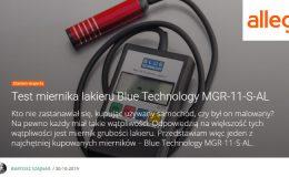Miernik grubości lakieru MGR-11-S-AL test allegro